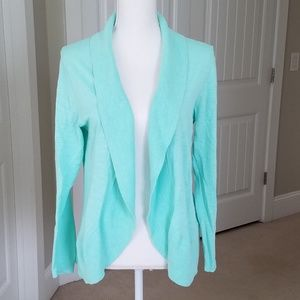 Crown and Ivy Turquoise Overpiece Shrug Sweater